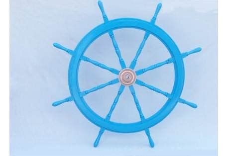 Helm Keren Helm Thi Rookie Solid Light Blue Series buy ship wheels helm boat steering wheel for decoration at the best prices from gonautical