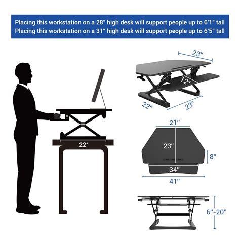 Flexispot Standing Desk Converter 27 Quot Width Stand Up Desk Dimensions