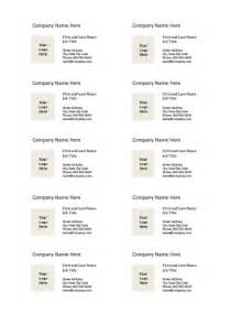 Business Cards Templates Free Print At Home by Business Card Templates For Microsoft Word Free