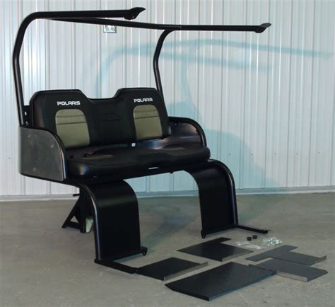 polaris ranger 500 rear seat kit marshall motoart introduces 2010 polaris ranger 5 5 seat