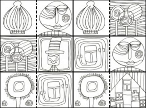 hundertwasser colouring book colouring 3791341138 a la mani 232 re de hundertwasser