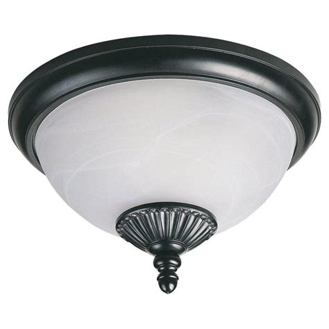 Black Ceiling Light Fixtures Sea Gull Lighting Yorktown 2 Light Black Outdoor Wall Ceiling Fixture 89248pble 12 The Home Depot