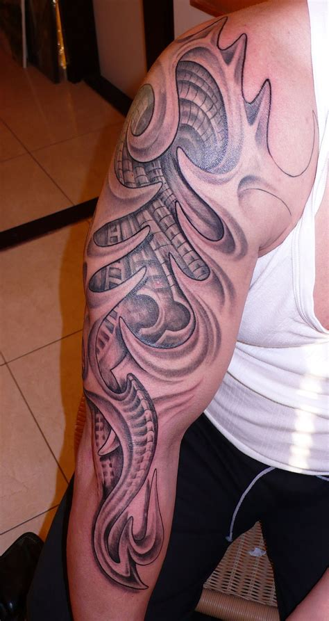 biomech tribal tattoo design pictures by susan lanier