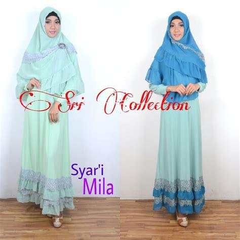 Baju Muslim Syari Queena mila syar i baju muslim gamis modern