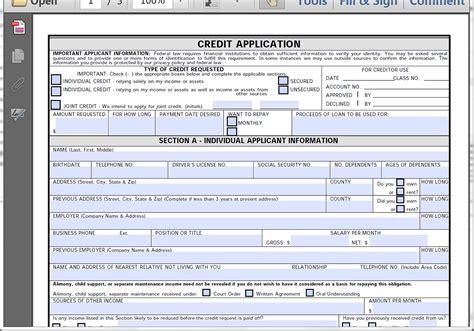 loan application form by mj