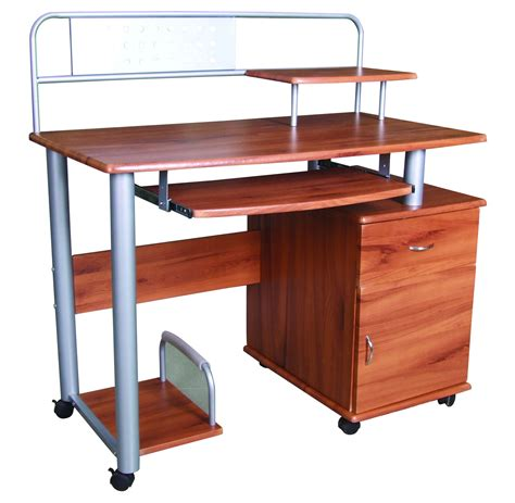 multi level computer desk xtech am120gen83 computer oak xtech ups united states