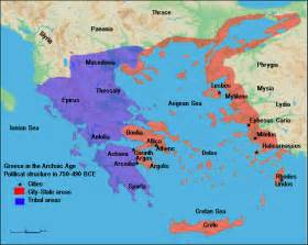 Map Of Classical Greece by Map Of Archaic Greece Illustration Ancient History