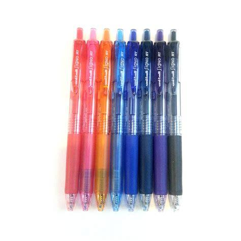 Pen 0 38mm uni signo rt umn 138 gel ink pen 0 38mm 8 color set