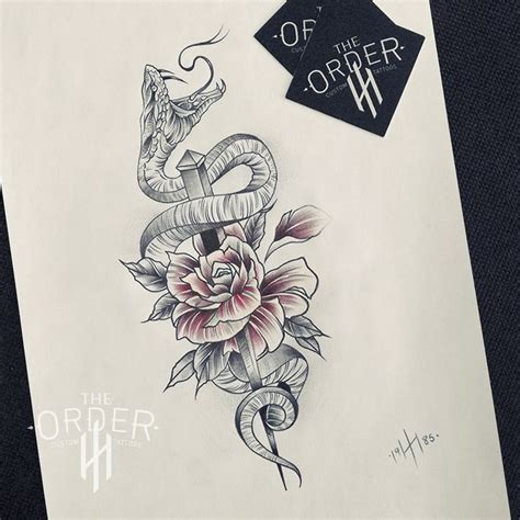 snake and rose tattoo 50 best the order custom tattoos sketches images