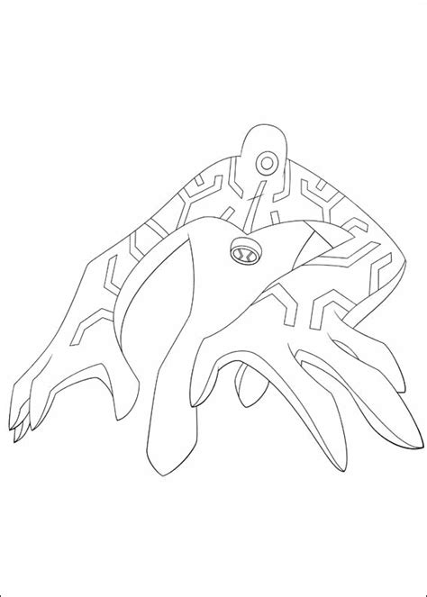 Ben 10 Coloring Pages Upgrade ben 10 upgrade printable colouring page ecoloringpage