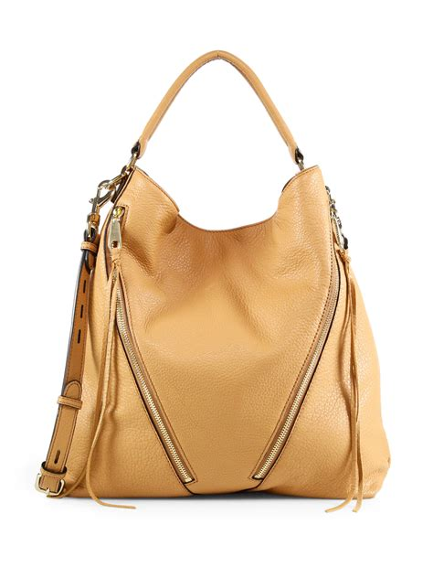 Minkoff Hobo by Minkoff Moto Leather Hobo Bag In Brown Lyst