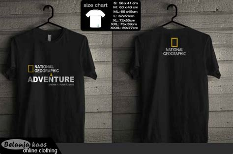 T Shirt Kaos Adventure Kaos Eiger tshirt national geographic adventure baju kaos distro