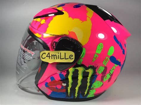 Helm Nhk R6 Pink Diskon jual dijual helm nhk r6 finger pink half