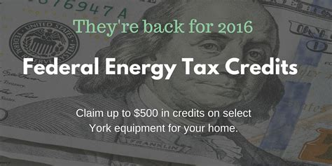 federal efficiency tax credits federal energy tax credits return for 2016 cfm