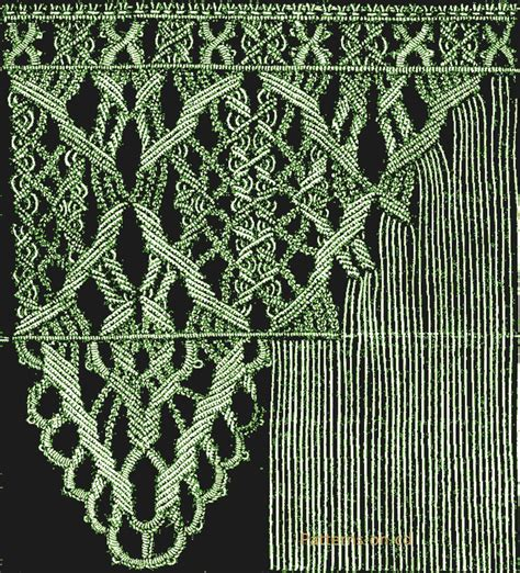 Macrame Directions - era macrame knots lace patterns ca 1878
