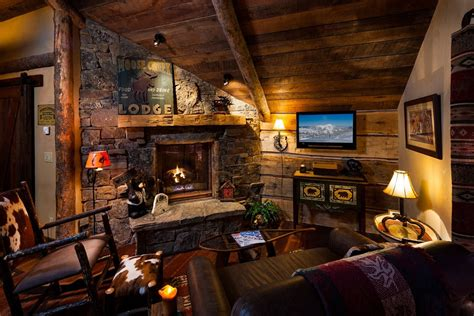 west inspired luxury rustic log cabin in big sky