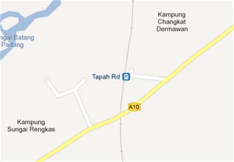 Ktm Intercity Map Tapah Railway Station Mrt My