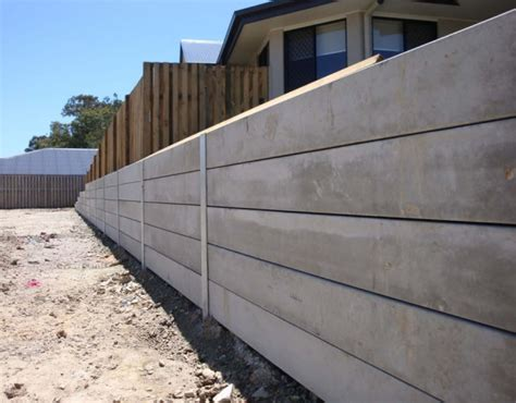 concrete retaining wall australian retaining walls concrete sleepers with galvanised steel h beam post retaining walls