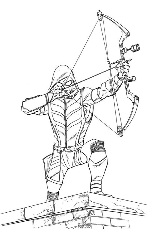 Smallville Coloring Pages Google Search Drawing Green Arrow Coloring Pages