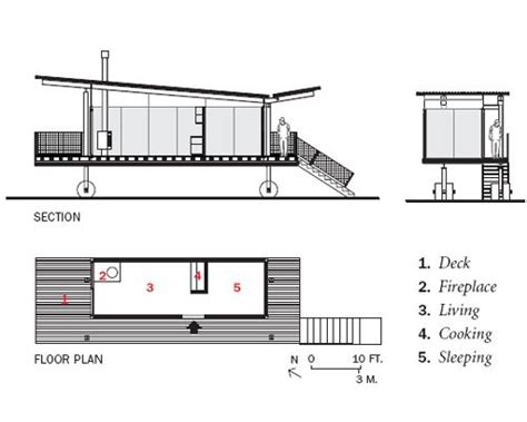Small Guest House Floor Plans rolling huts record houses 2008 architectural record