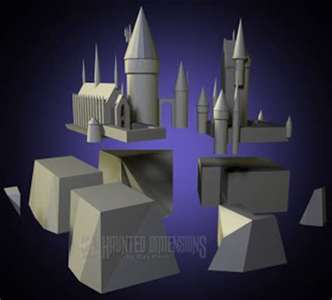 harry potter hogwarts castle papercraft wip papercraft