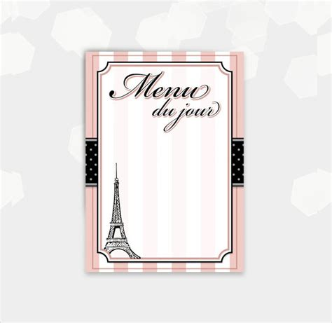 Blank Menu Card Templates by Blank Menu Template 45 Free Psd Eps Pdf Format