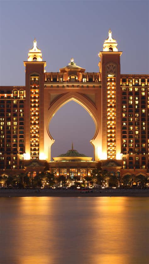 wallpaper atlantis dubai hotel night resort sea