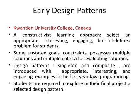 criteria design pattern in java teaching object oriented programming courses by sandeep k