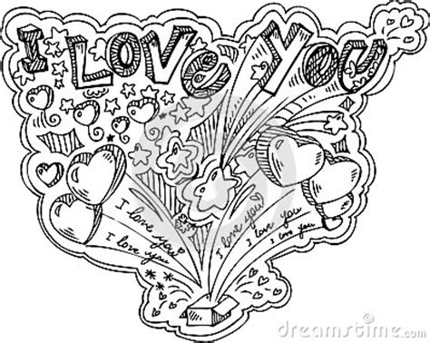 doodle of i you i you doodle vector stock vector image 40551023