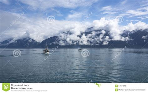 glacier bay boats out of business salmon fishing boats in southeast alaska stock photo