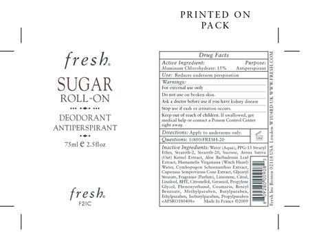 Jual Fresh Sugar Roll On Deodorant Antiperspirant by Fresh Sugar Roll On Deodorant Antiperspirant Liquid Guerlain