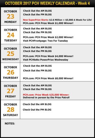49000 Cash Giveaway - your pch schedule new sweepstakes for october pch blog