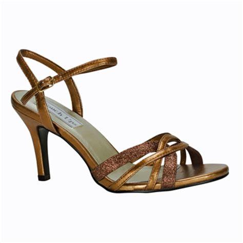 mid heel bronze glitter evening shoes