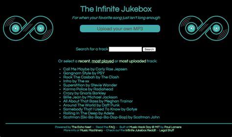infinate jukebox интересные сайты тhe infinite jukebox вечные мелодии