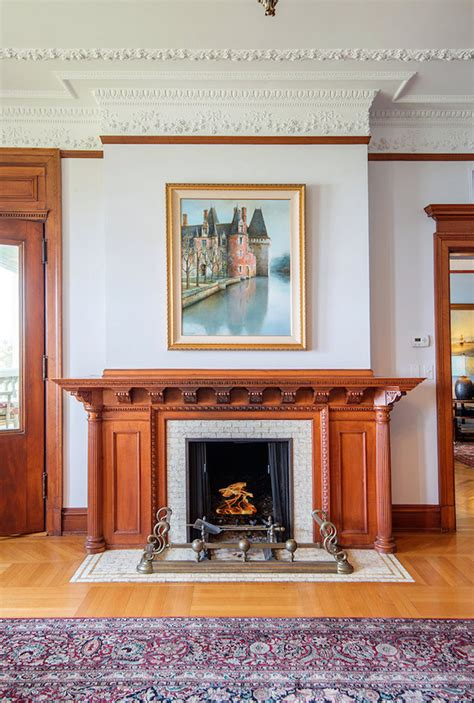 Formal Living Room With Fireplace Lake Geneva Manor Penthouse To Be Auctioned Photos
