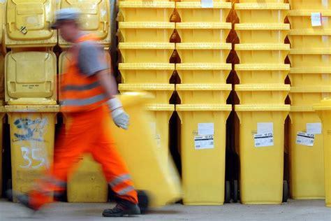 wann werden gelbe säcke abgeholt entsorgung gelbe tonne und gelber sack werden abgel 246 st