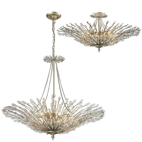 Light Fixture Medallion Elk 31433 8 Viva Aged Silver Flush Mount Ceiling Light Fixture Ceiling Light Pendant Elk 31433 8
