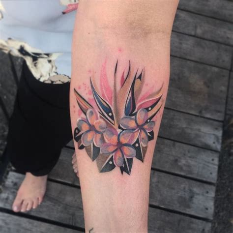 watercolor tattoo quebec flowers geometrictattoo watercolortattoo