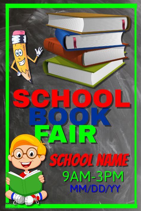 scholastic book fair flyer template school book fair template postermywall