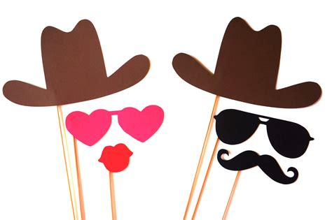 Handmade Photo Props - photo booth props the cowboy and by themanicmoose