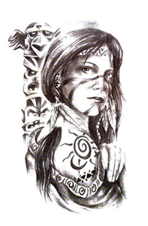 native american indian women tattoos drawings tats