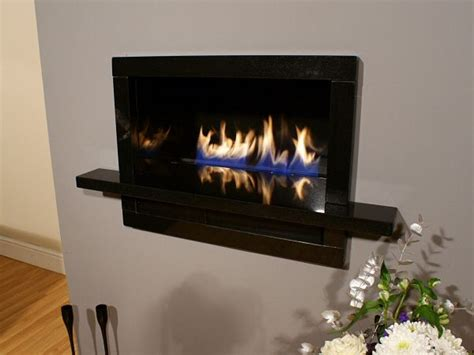 contemporary in the wall gas fireplace design