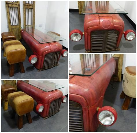 Masseys Furniture by Coffee Table From An Upcycled Massey Ferguson Tractor