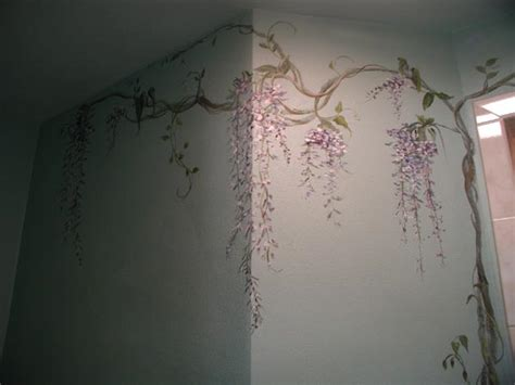Wall Murals For Home murals wisteria bathroom