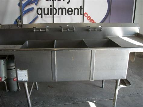 3 compartment sink price 3 compartment sink with garbage disposal and faucets pre