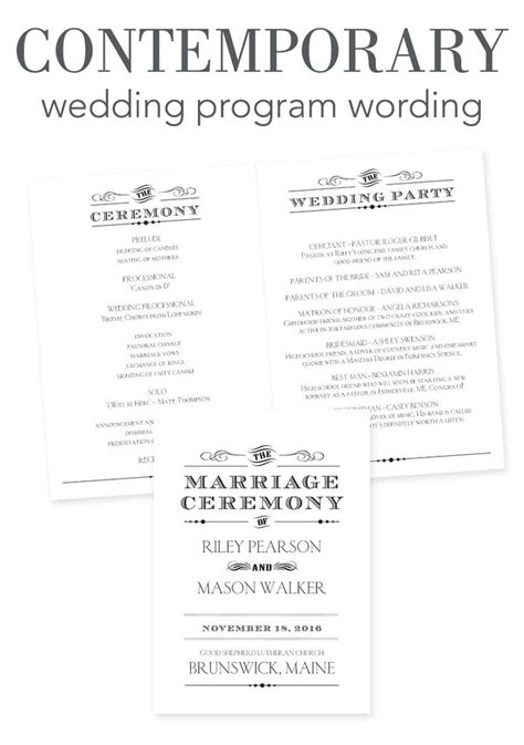 wedding program template 64 free word pdf psd documents