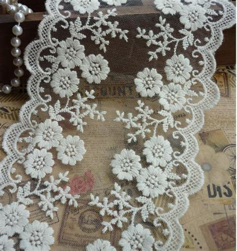 wholesale cotton fabric lace trim beige lace tirm floral