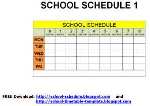 free printable class schedule template 6 best images of free printable class schedule template