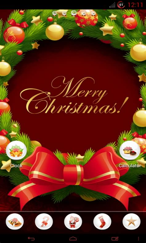 christmas themes download for android christmas neon glow hd theme free android app android