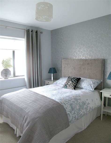 Silver grey guest bedroom   Modern   Bedroom   Dublin   by Style my Room